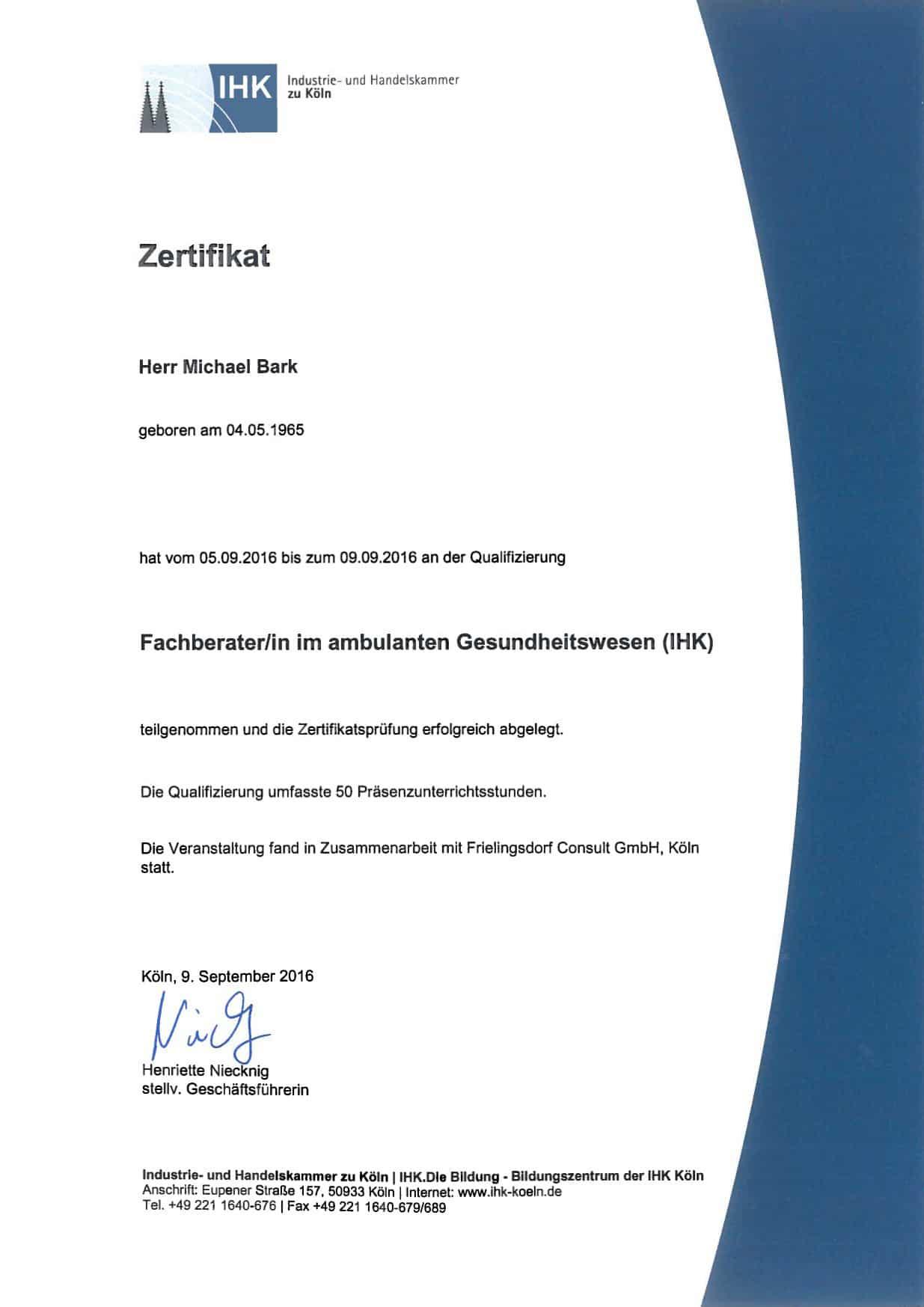 Fachberater ambulantes Gesundheitswesen - wilms & partner Steuerberatung in Düsseldorf