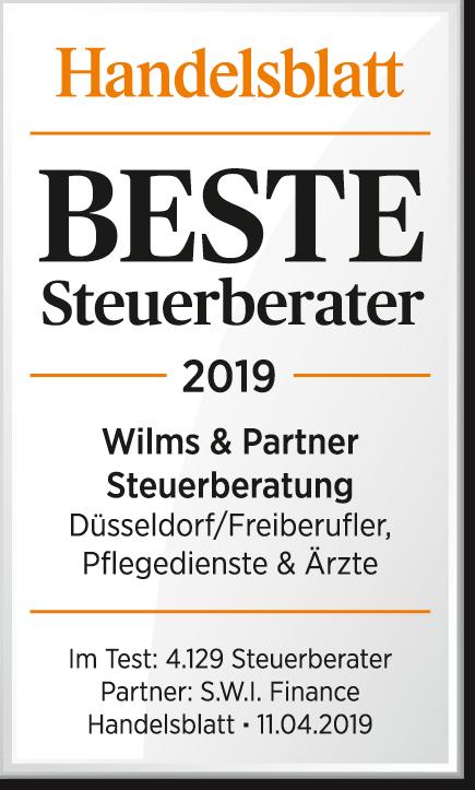 Wilms & Partner in Düsseldorf - Handelsblatt beste Steuerberater