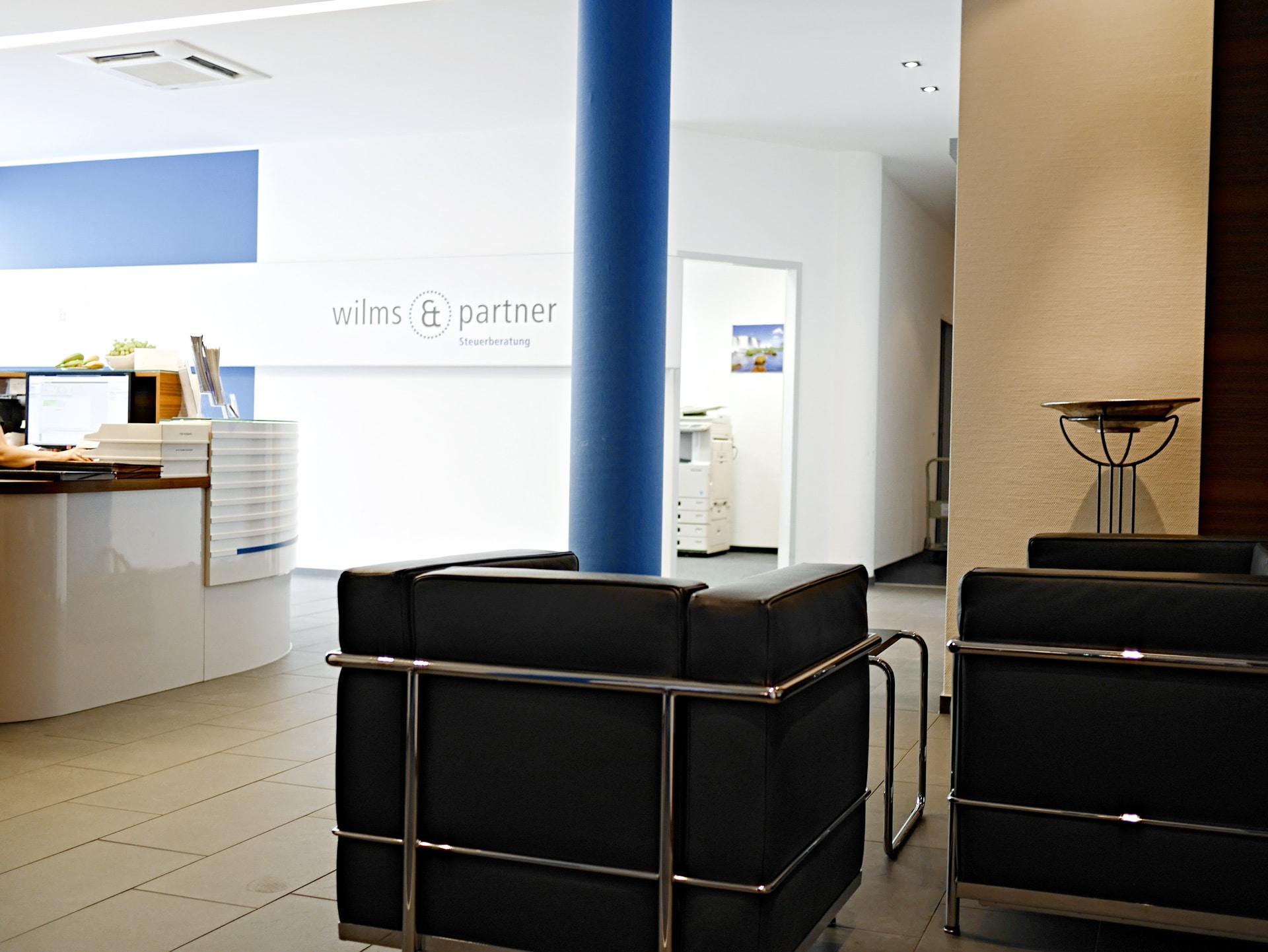 wilms & partner Steuerberater Düsseldorf - Eingangsbereich